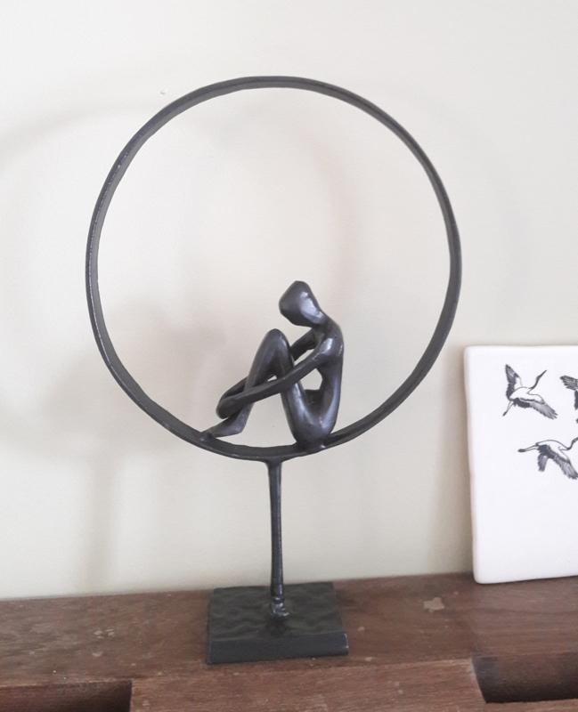 Sculptuur Thinker, metaal