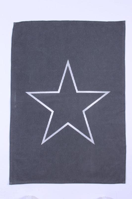 Theedoek Star - antraciet