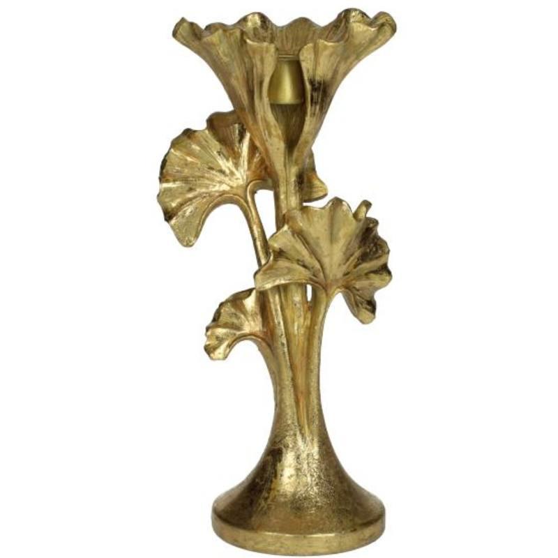Kandelaar  Gingko, goud