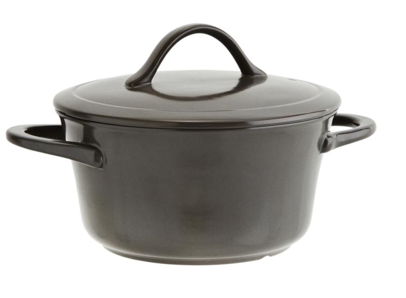 (oven)schaal met deksel, 2,4 ltr - grijs