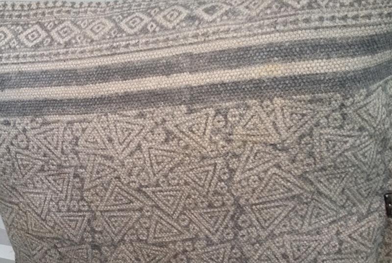 Kussenhoes printed - grijs/ecru