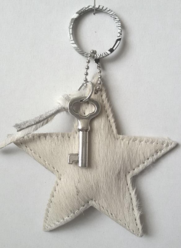 Sleutelhanger Ster - offwhite, sleutel