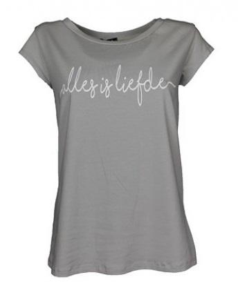 T-shirt Alles is liefde - lichtgrijs
