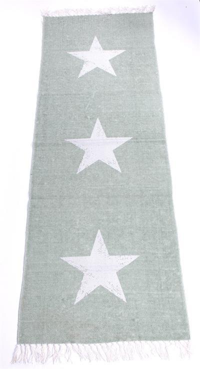 Vloerkleed sterren - grijsgroen