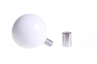 Wandknop, rond - wit