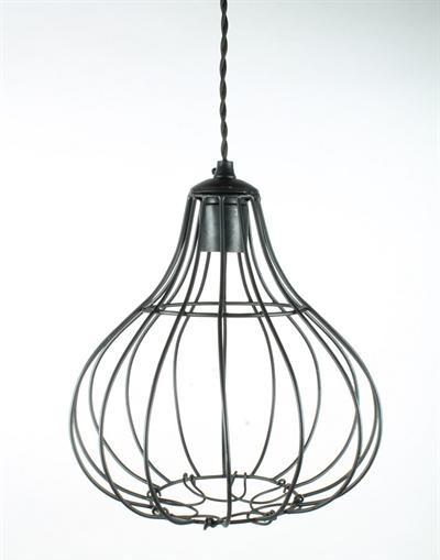 Hanglamp Draadmetaal - zwart