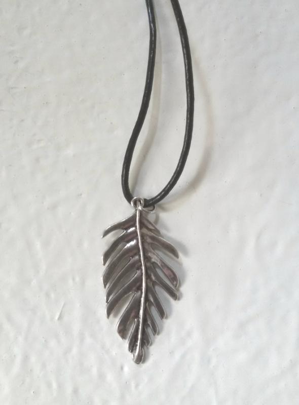 Leren ketting Leaf