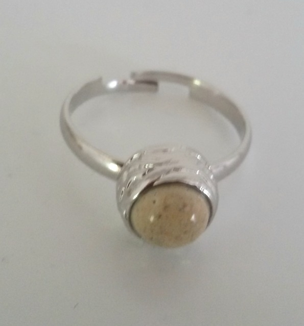 Ring Marble - zilver