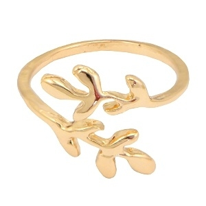 Ring Leaves - goud