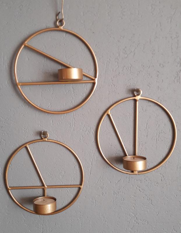 Wandkandelaar voor waxine - brons