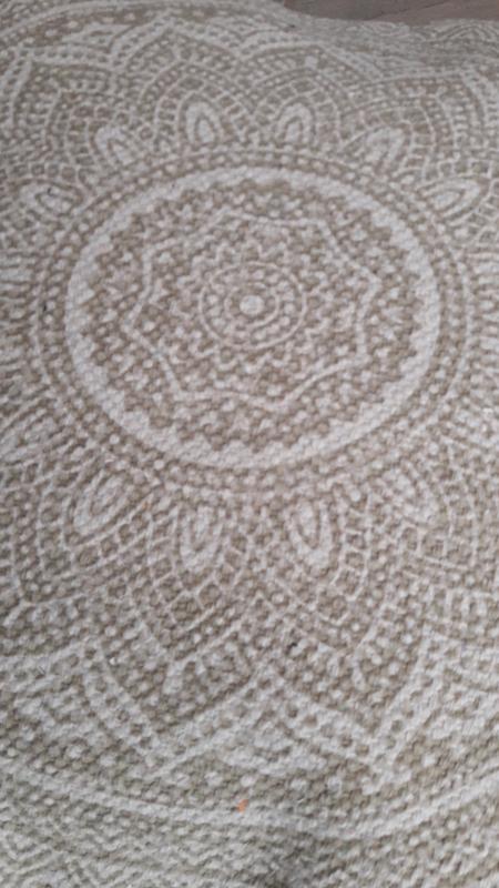 Kussenhoes Mandala - kiezel/zand