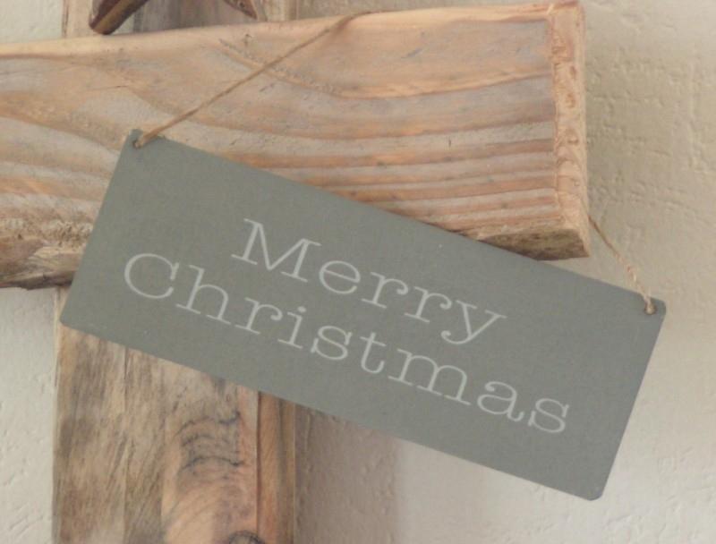 393005 Zinken hanger Merry Christmas