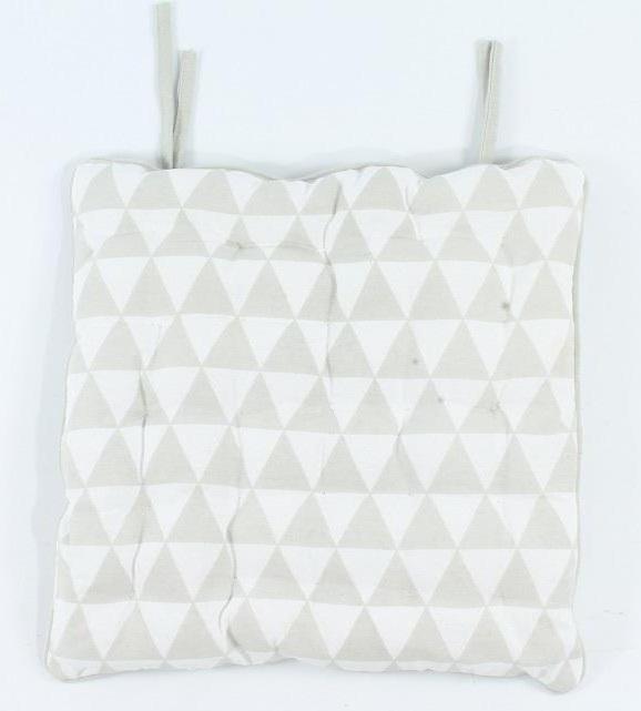ka106 Stoel kussen Triangle - grijs