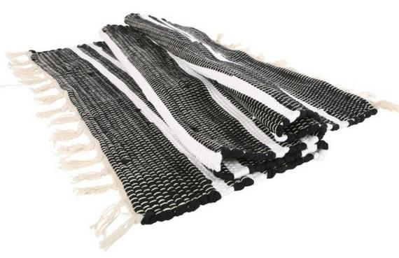 Vloerkleed Anhui - zwart/wit