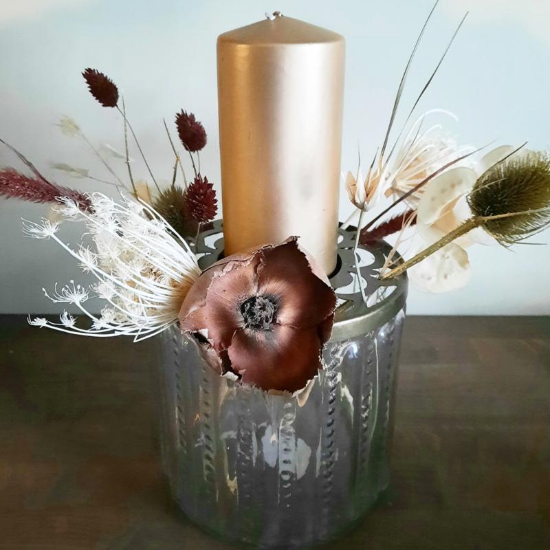 Vaas met kandelaar