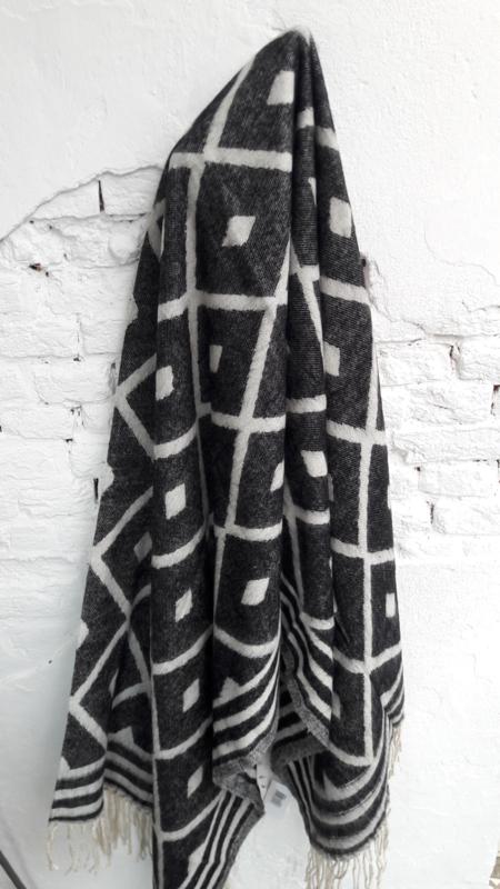 Plaid Quin - zwart/wit