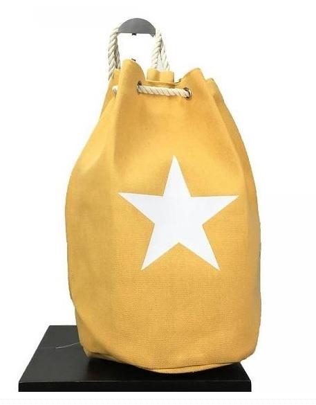 Duffle bag Ster - geel