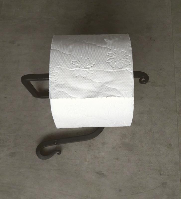 Toiletrolhouder, smeedijzer