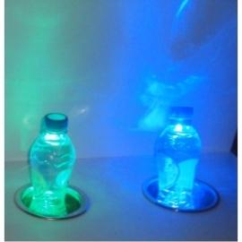 Bekerhouder met led verlichting diverse kleuren