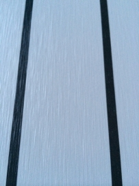 HPL plaat grijs met antraciet / zwarte bies