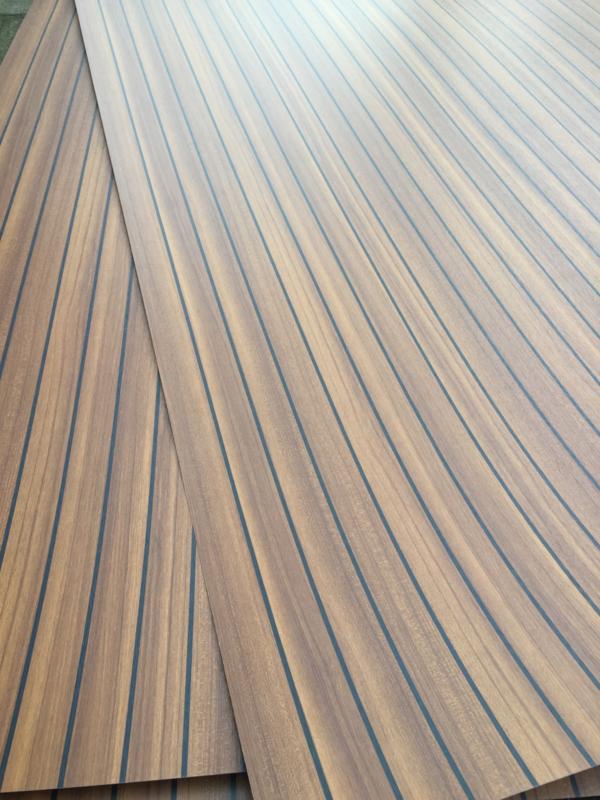 Spiksplinternieuw Teak (look) HPL vloer platen & plaat | Pimpjeboot HV-32