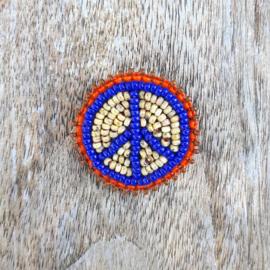 Broche 'Peace man' blauw