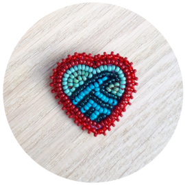 Broche 'Ocean Love' rood