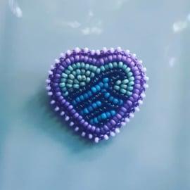 Broche 'Ocean Love' paars