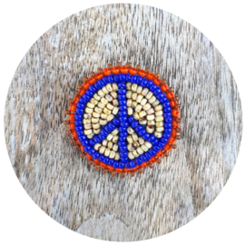 Broche 'Peace man' blauw