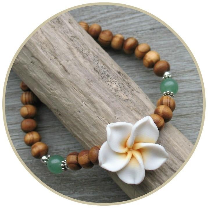Armband `Frangipani` Wit