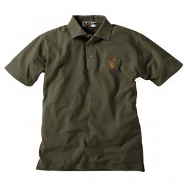 Polo shirt met edelhert