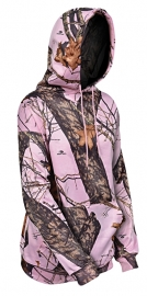 Yukon hooded sweater dames pink