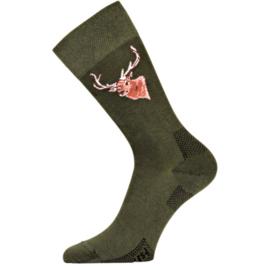 Lasting trekking sokken met edelhert motief