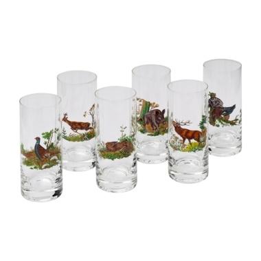 Set van 6 glazen (Longdrink-bierglas)