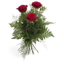 Drie rode rozen