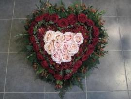 Rouwstuk no 17 ( hart model ) 45 cm