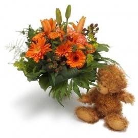 Bright Blossom met teddy