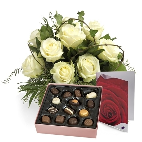 Witte rozen Cadeauset
