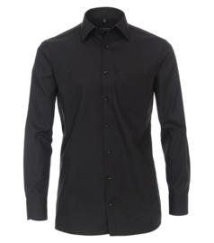 Casa Moda Overhemd Zwart strijkvrij