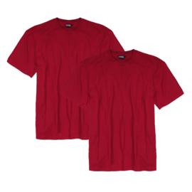 Adamo T-shirt ronde hals Marlon rood 2-pack