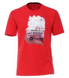 Casa Moda t-shirt rood print