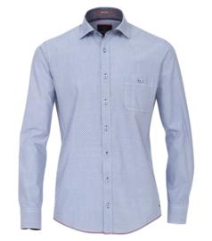 Casa Moda Overhemd licht blauw print