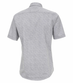 Casa Moda Overhemd korte mouw off white blauw print