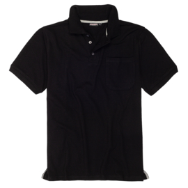 Adamo Poloshirt Klaas zwart