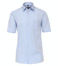 Casa Moda Overhemd korte mouw licht blauw strijkvrij