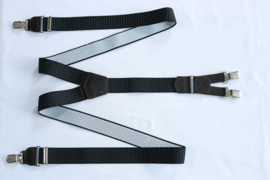 Hendrik gold bretels zwart wit gestipt 145cm