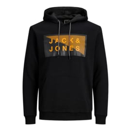 Jack & Jones Hoodie Zwart print