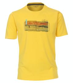 Casa Moda t-shirt geel print