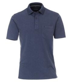 Casa Moda Poloshirt donker blauw gestipt