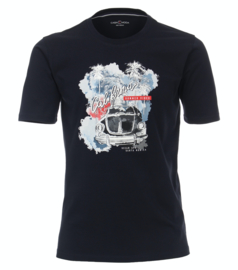 Casa Moda t-shirt donker blauw print